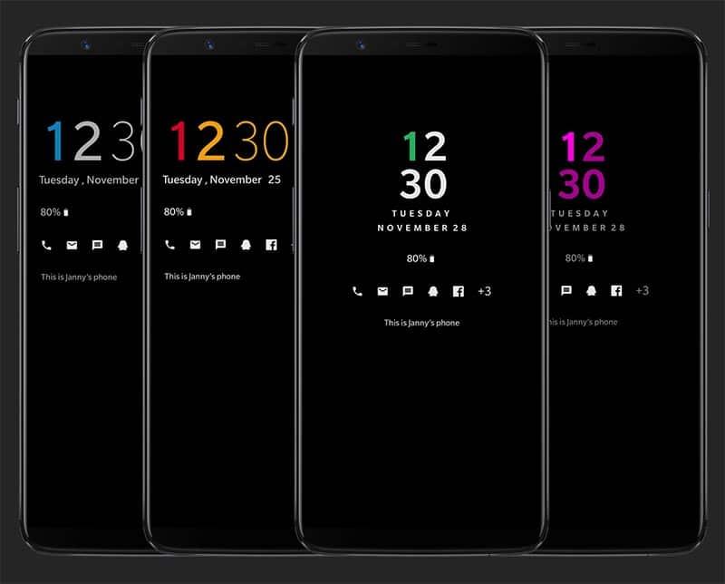 Customize Always-on Display on OnePlus 6/5T/5 - AOD Customizer Screenshots