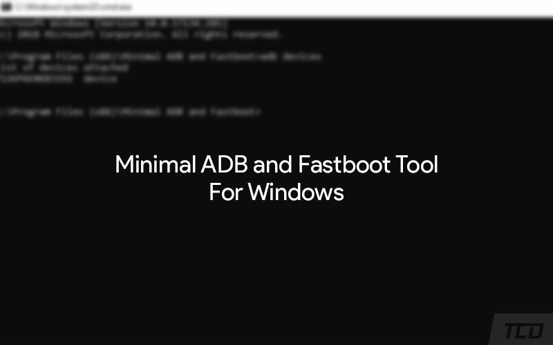 Download Minimal ADB and Fastboot Tool for Windows 7/8/10