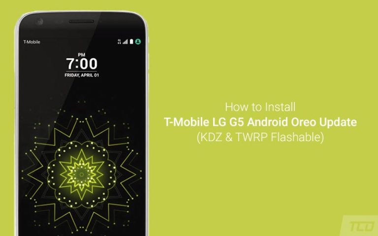 Download and Install T-Mobile LG G5 Android Oreo Update