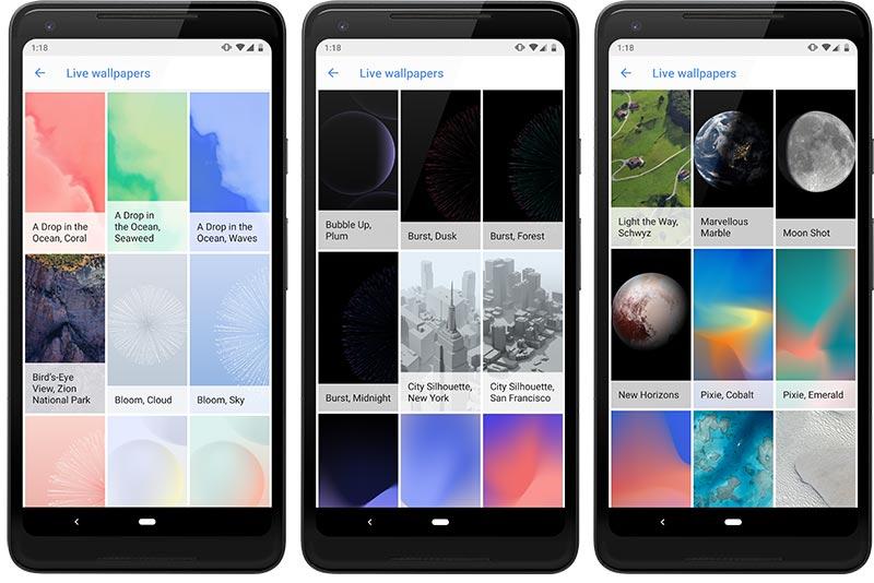 Google Pixel 3 Live Wallpapers - Screenshots