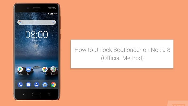 How to Unlock Nokia 8 Bootloader