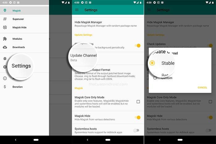 How to Update Magisk 17.1 - Change Update Channel