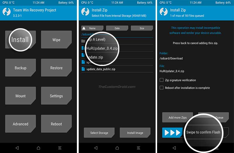 Install Stock Firmware on Huawei/Honor Devices using HuRUpdater Tool with TWRP - 02