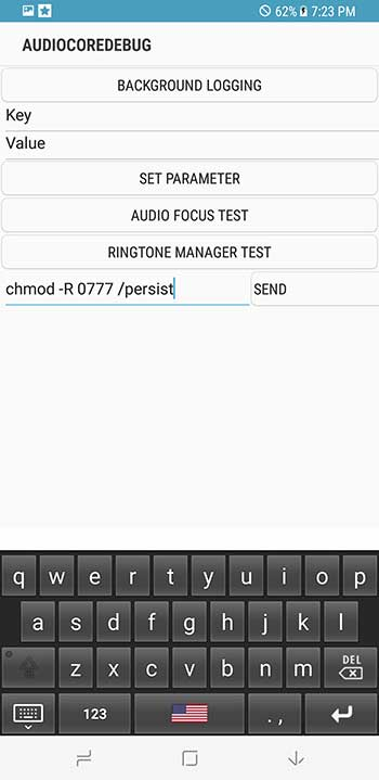 Enter ADB Command in AudioCoreDebug