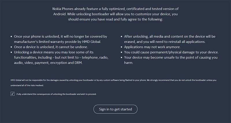 Unlock Nokia 8 Bootloader - Official Nokia Bootloader Unlock Page