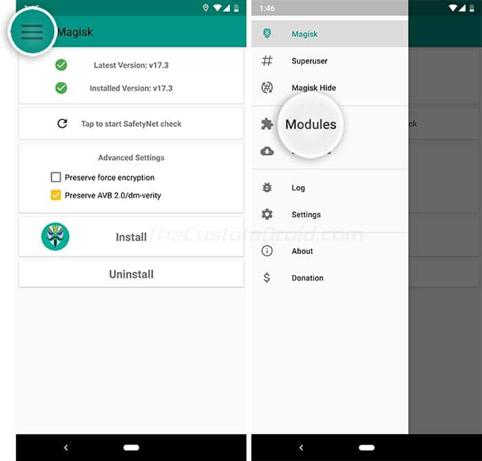 Enable Always-On Display on Google Pixel and Pixel XL - Go to Modules