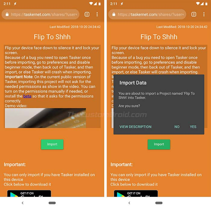 Get Google Pixel 3 Flip to Shhh Feature - Import Tasker Profile