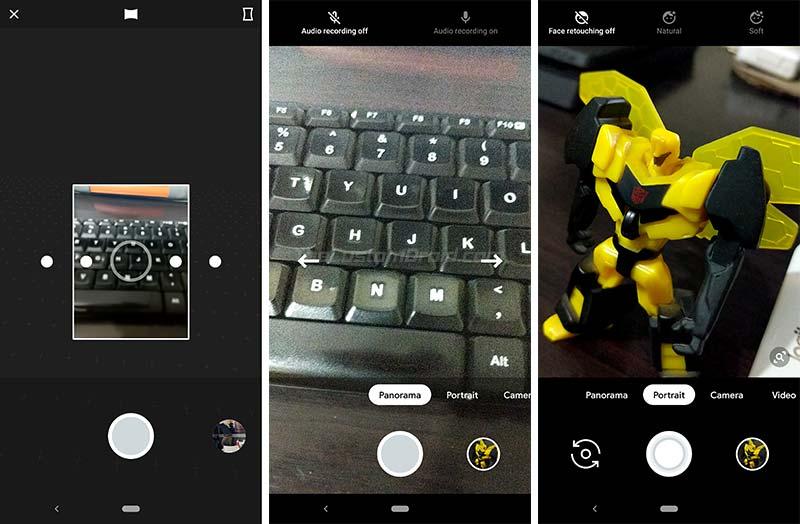 Google Pixel 3 Camera App - Google Camera 6.1 - Panorama UI and Face Retouching