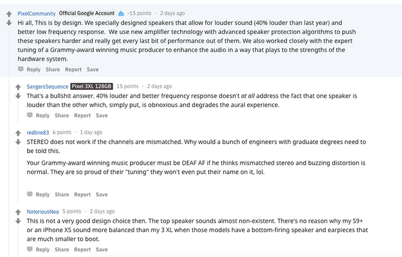 Google Pixel 3 XL Sound Imbalance Issue - Official Response by Google