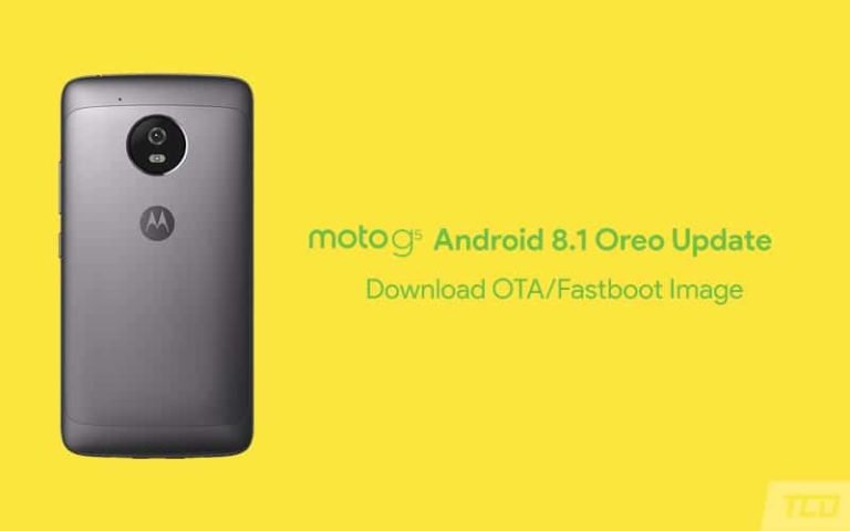 How to Install Moto G5 Android 8.1 Oreo Update (OTA & Fastboot Image)