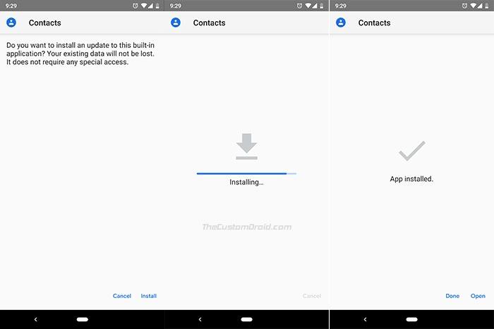 Install Google Contacts 3.1 APK