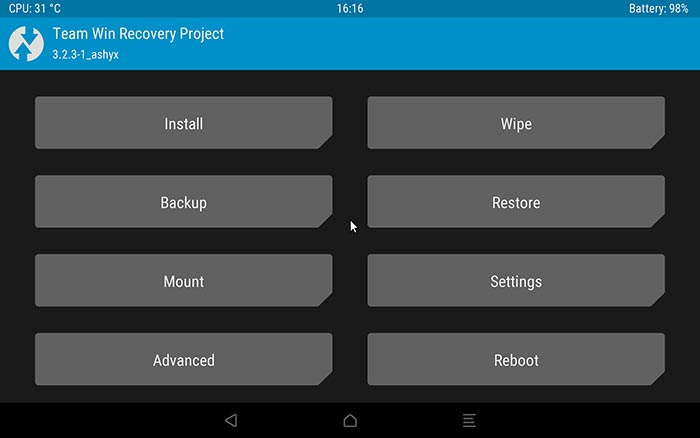 Install TWRP Recovery on Galaxy Tab S4 - Screenshot