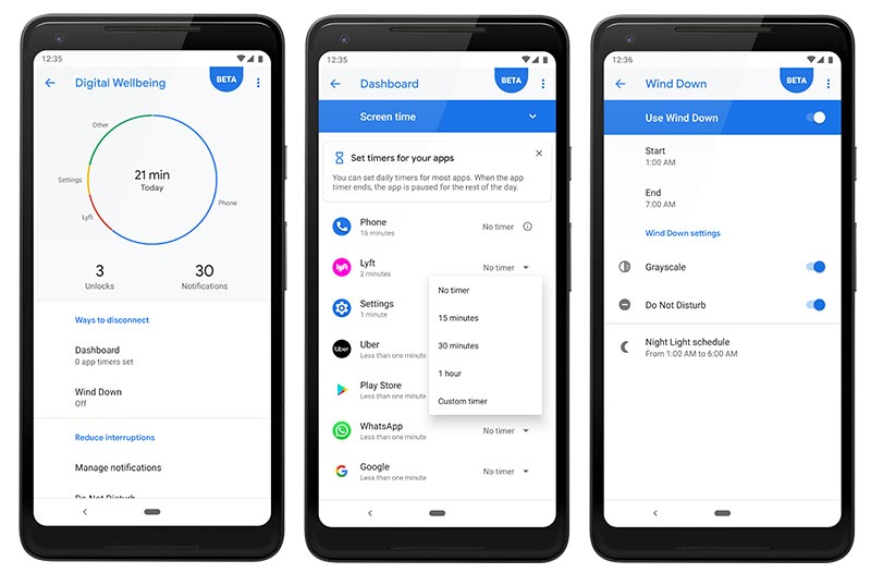 List of Android 9 Pie Ports - Android Pie Features - Digital Wellbeing