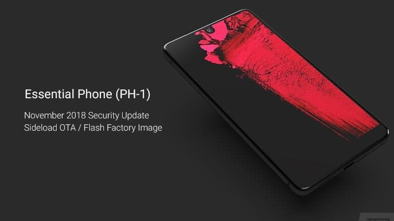 How to Install Essential Phone November 2018 Security Update