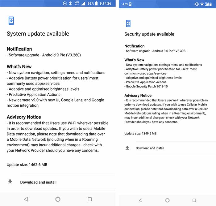 Nokia 6.1 and Nokia 6.1 Plus Android Pie OTA - Screenshots