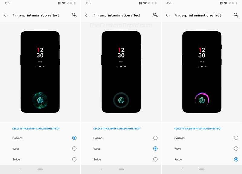 OnePlus 6T Screen Unlock - Fingerprint Animation Effect