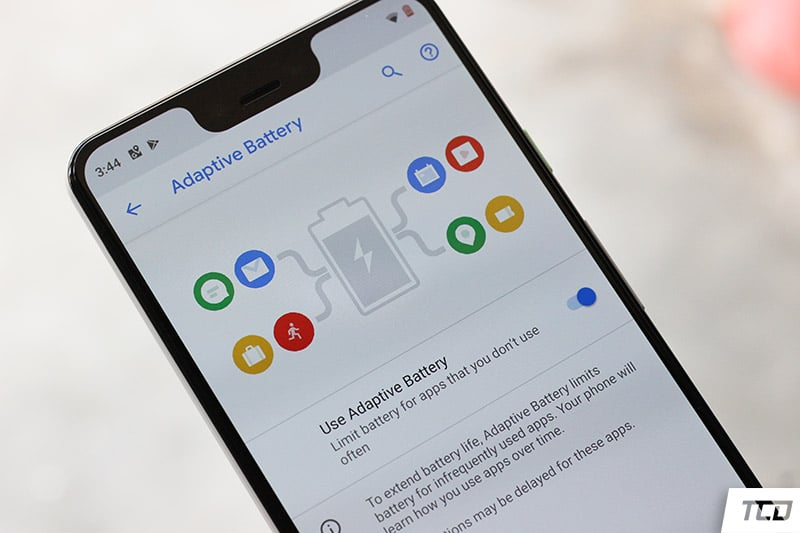 Google Pixel 3 XL Android 9 Pie - Adaptive Battery Feature