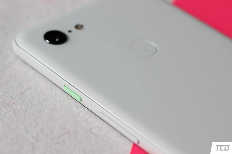 Google Pixel 3 XL Design - Mint Green Power Button