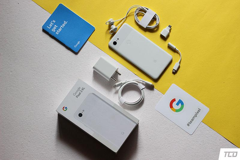 Google Pixel 3 XL Unboxing - USB-C Earphones, Manuals, Wall Charger, and more