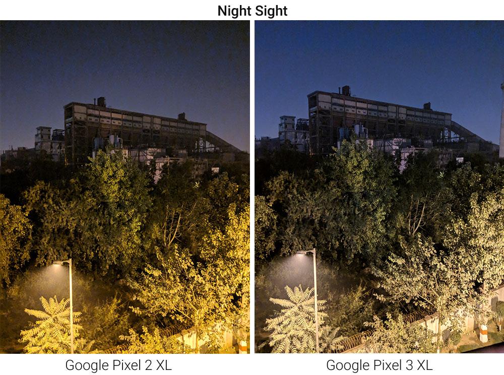 Google Pixel 2 XL vs Google Pixel 3 XL Camera Comparison - Night Sight