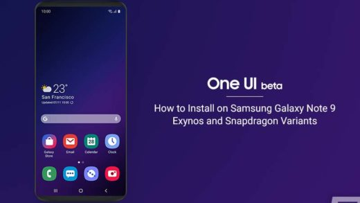 Install Android Pie-based One UI Beta on Samsung Galaxy Note 9
