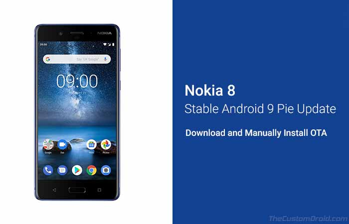 How to Install Nokia 8 Android Pie Stable Update