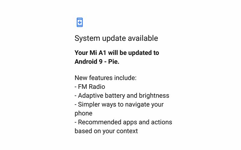 How to Install Xiaomi Mi A1 Android Pie Update