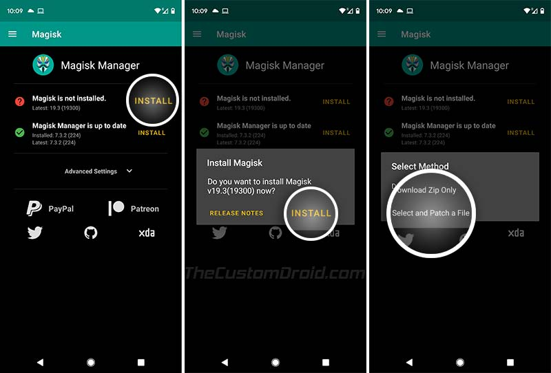 Root Xiaomi Mi A2/A2 Lite without TWRP - Select and Patch a File in Magisk Manager
