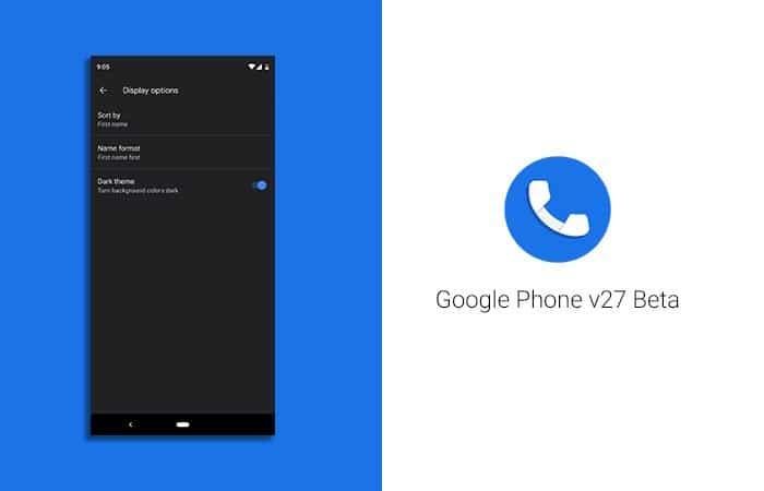 Google Phone v27 Beta