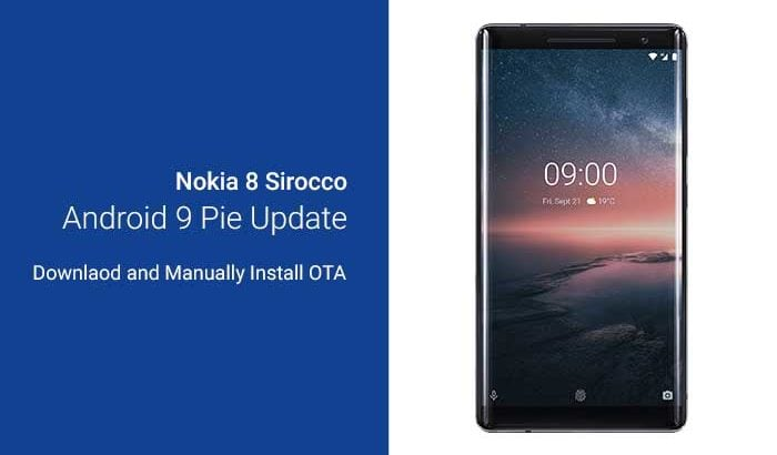 How to Install Nokia 8 Sirocco Android Pie Update