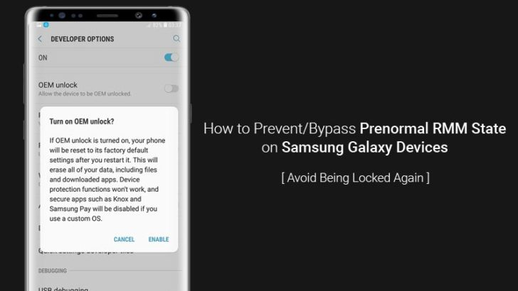 How to Prevent Prenormal RMM State on Samsung Galaxy Devices