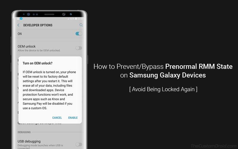 Как предотвратить предормальное состояние RMM на устройствах Samsung Galaxy