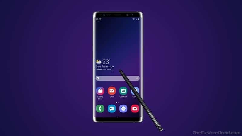 Install Android Pie-based One UI on Galaxy Note 8