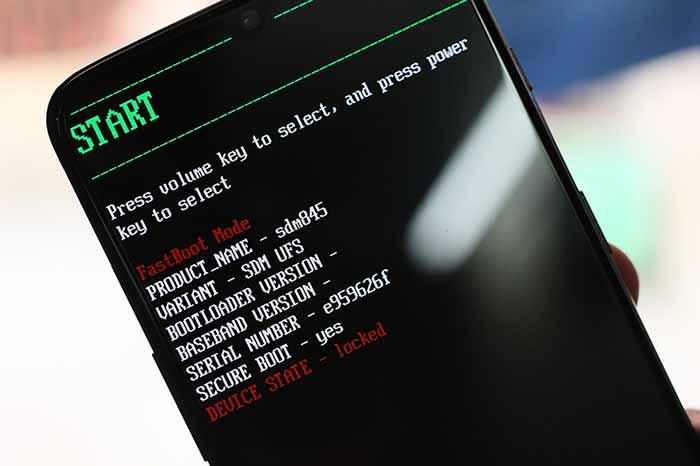 Unlock Bootloader on T-Mobile OnePlus 6T - Enter Bootloader Mode