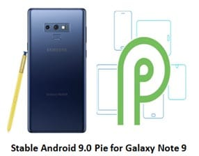 Android Pie Update for Galaxy Note 9