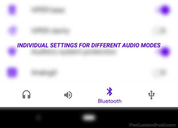 Settings for Different Audio Modes in ViPER4Android