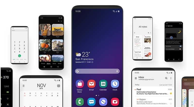 One UI на базе Android Pie на Samsung Galaxy A8 Plus