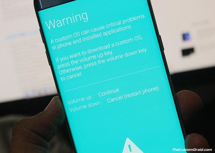 Установите Samsung Galaxy A8 Plus Android Pie Update - загрузитесь в режиме загрузки