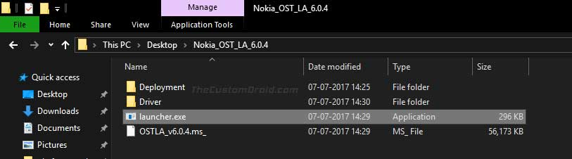 Launch the Nokia Online Service Tool (OST LA) Installer on the PC