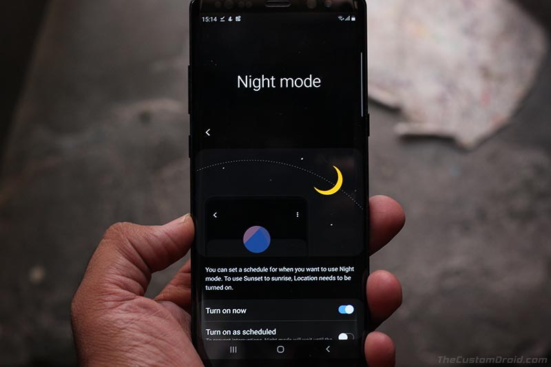Samsung One UI Features - Night Mode
