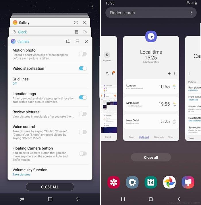 Samsung One UI vs Samsung Experience - Multi-tasking Window