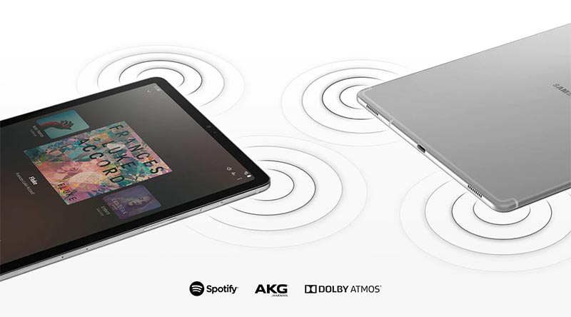 Samsung Galaxy Tab S5e comes with speakers tuned by AKG and support Dolby Atmos surround