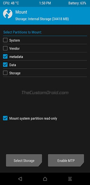 Asus Zenfone 6 - Enable MTP in TWRP Recovery