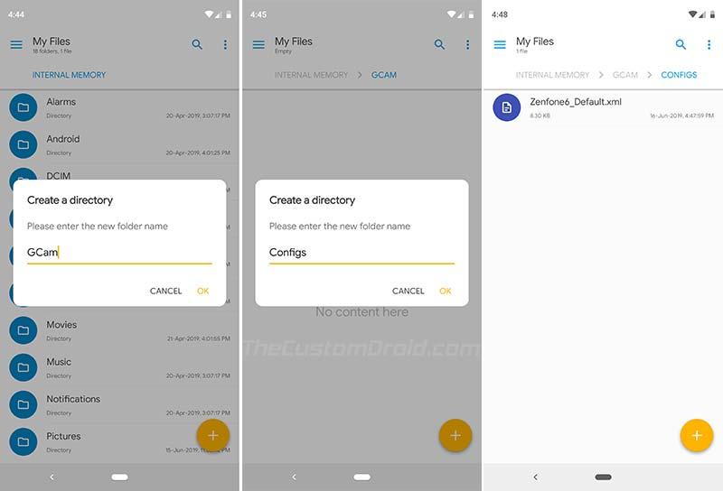 Install Google Camera Port on Asus Zenfone 6 (2019) - Copy XML Config File