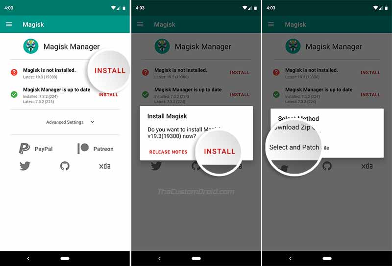Patch Stock Boot Image on Google Pixel 3a (XL) using Magisk Manager
