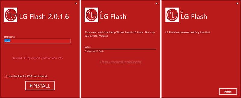 Install LG Flash Tool on Windows PC