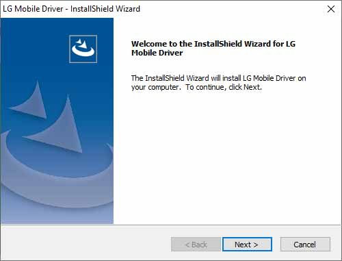 Install LG Mobile USB Drivers on Windows - Begin Installation