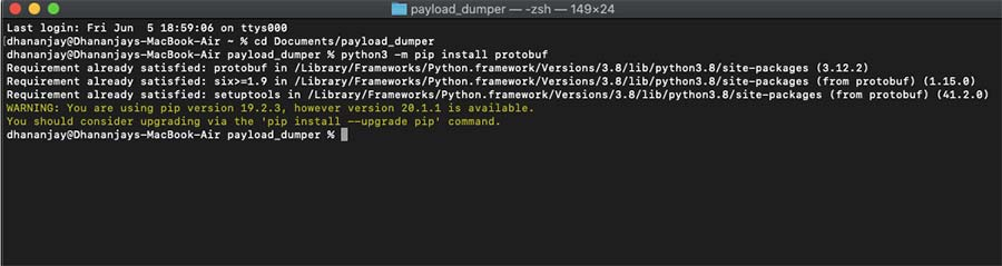 Install Protobuf Dependency using macOS/Linux Terminal