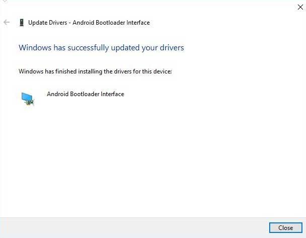 Manually Install Xiaomi USB Drivers - Installation Successful