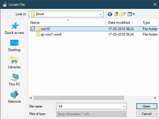Установите драйверы USB Xiaomi вручную - найдите файл драйвера USB